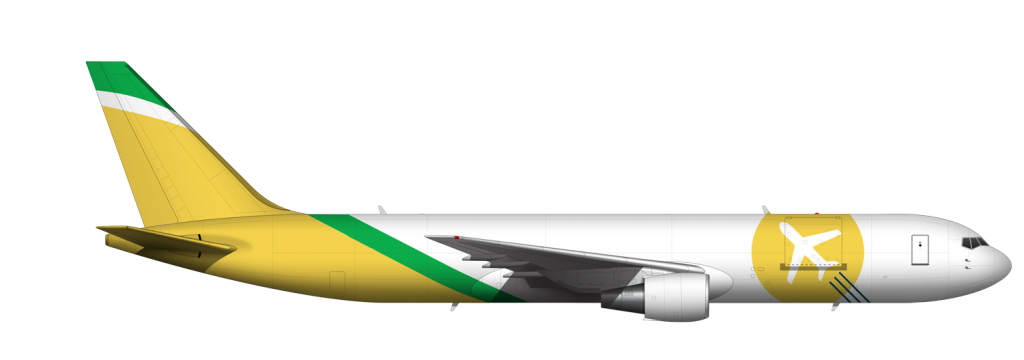 767 Airplane Graphic